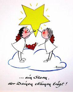 """Heidemarie Brosien """"... ein Stern der Deinen Namen trägt!"""" von Heidemarie Brosien - Passepartout in Museumsqualität und im Außenformat von 24x30 cm"""