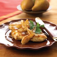 Balsamic Honey Chicken with pears - Healthy Recipe Finder | Prevention