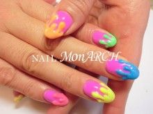 nails neon candy