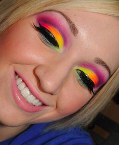 Neon Make Up Tutorial using Sleek MakeUp & Essence ft ...