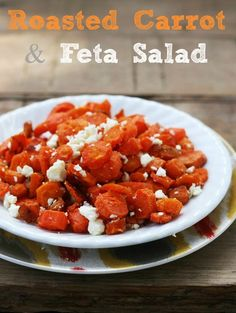 Roasted Carrot and Feta Salad Recipe - Cheap Recipe Blog #salad #recipes
