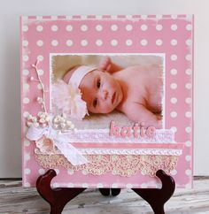 Adorable Baby Scrapbook Layout