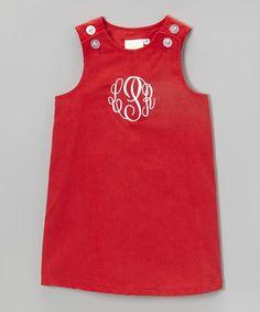 Look what I found on #zulily! Red Monogram Jumper - Infant, Toddler & Girls by Waistin' Away #zulilyfinds