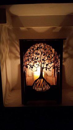 Lampe de table, lampe, lampe bois coupe de laser, laser cut lampe de table,