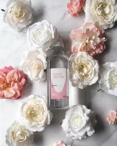 The prettiest collab from @somawater  @juiceservedherea feel-good sip that does good too! $1 from every #heartsforhydration rose water sold will aid those impacted by the Flint water crisis.  by citysage