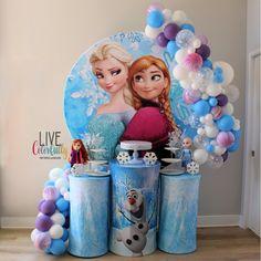 Frozen Birthday Decorations, 2nd Birthday Party For Girl, Frozen Themed Birthday Party, Disney Frozen Birthday, Third Birthday, Birthday Ideas, Frozen Bebe, Frozen 2, Frozen Party Backdrop