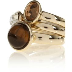 Tigers Eye Ring ($17) ❤ liked on Polyvore featuring jewelry, rings, accessories, brown, gold, women, brown jewelry, tigers eye ring, tiger eye jewelry and browns rings
