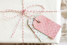 DIY Cereal Box Gift Tags from offbeat & inspired
