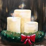 Paintings – 2 Hour on Creatively Uncorked Wine Painting, Easy Canvas Painting, Acrylic Painting For Beginners, Beginner Painting, Farmhouse Paintings, Christmas Paintings, Paint Party, Pillar Candles, Painting Parties