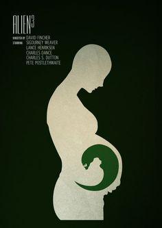 Alien 3 in Minimalist Movie | http://cinematicmovieposters643.blogspot.com