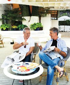 My foodie faves - Eric Ripert and Anthony Bourdain