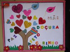 painel de dia das mães homenagem Diy And Crafts, Crafts For Kids, Paper Crafts, Christmas Quotes, Christmas Gifts, Valentine Day Crafts, Valentines, School Door Decorations, School Doors