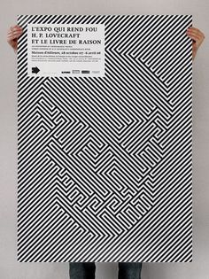 Play With Optical Illusions | L'Expo Qui Rend Fou Poster by ThemesL'Expo Qui Rend Fou Poster by Themes