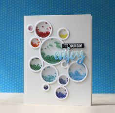 It's Your Day Enjoy card - Seed Bead Shaker Card - by Laura Bassen