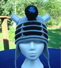 Silver Dalek Ear Flap Hat