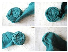 Easy to follow steps to make rolled rosettes