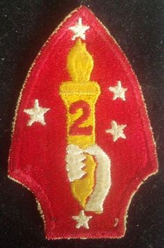 WWII USMC Marine Corps 2nd Marine Division Wool Felt Patch - $69.99