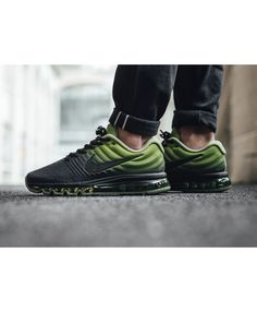 online store 2a077 94831 Nike Air Max 2017 Black Green Black Uk Trainers