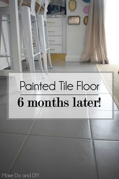 Painted Tile Floor Update Six Months Later