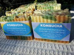 Home Brewed Kombucha Pure Silk Soap $6.50 New look for Kombucha Soap!  This Kombucha is home brewed and blended with goats milk, coconut milk, organic carrot juice & pulp, raw organic honey and other oils known for their skin moisturizing and healing benefits such as castor oil, palm oil, shea butter, cocoa butter, olive oil, coconut oil.