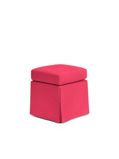 because rooms should be mix-and-match affairs of hand-curated pieces acquired from travels near and far--plus pretty forever pieces, like this shocking pink linen ottoman.