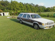 1985 Mercury Marquis. Mine was not a wagon but a 4 door, maroon on maroon with wire hubcaps.. Drove it for a long time. It was comfortable and good on gas..