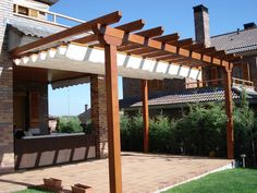 The pergola kits are the easiest and quickest way to build a garden pergola. There are lots of do it yourself pergola kits available to you so that anyone could easily put them together to construct a new structure at their backyard. Small Pergola, Deck With Pergola, Outdoor Pergola, Covered Pergola, Backyard Pergola, Patio Roof, Pergola Kits, Pergola Roof, Corner Pergola