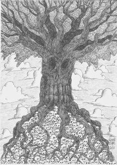 Víctor Rivas Ilustrations: Original: Árbol calavera