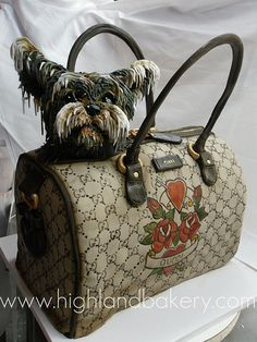 Gucci Yorkie Cake by Karen Portaleo/Highland Bakery , www.CheapMichaelKorsHandbags louis vuitton handbags louis vuitton for cheap, cheap louis vuitton bags purses, Lv Handbags, Louis Vuitton Handbags, Handbags Online, Designer Handbags, Vuitton Bag, Chloe Handbags, Guess Handbags, Designer Purses, Burberry Handbags
