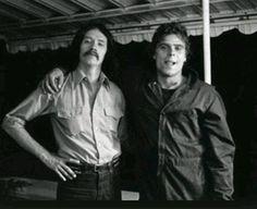 John Carpenter and Tony Moran(Michael Myers) on the set of Halloween, 1978