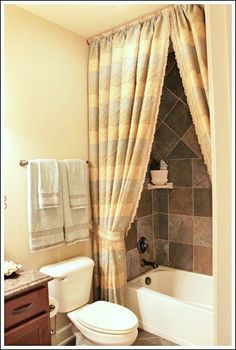 Have A Custom Shower Curtain Made, Or Sew Your Own Extra Long Shower Curtain ,