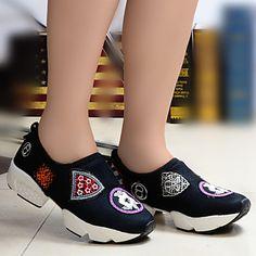 Chaussures Femme Tulle Talon Compensé Compensées Baskets à la Mode  Chaussures de… Chaussure A e8a1b91ecc66