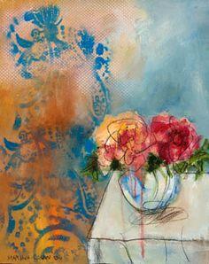 Marina Louw Mixed Media Collage, Collage Art, Art Pictures, Photos, Sketch Inspiration, Design Inspiration, Floral Artwork, Pin Art, Still Life Art