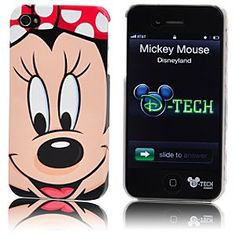 Disney Minnie Mouse Face iPhone 4 Case | Disney StoreMinnie Mouse Face iPhone 4 Case - Not so much a face book as a face phone. You'll be all smiles every time you use your Minnie Mouse Face iPhone 4 Case. With its large image of a beaming Minnie, you're sure to get a good reception wherever you go.