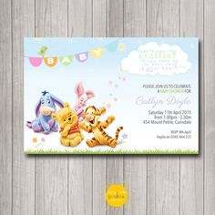 Printable Custom Baby Shower Invitation by HappyLittleSunshineD