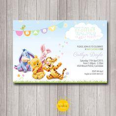 Printable Custom Baby Shower Invitation by HappyLittleSunshineD