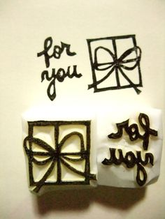 DIY stamp - such a great idea! I could totally carve this out of soap or a potato!!