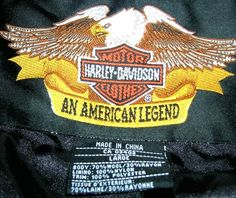 Harley 95th Anniversary logos on the front and back of jacket. Harley Davidson95th Anniversary Jacket. Deep inside pocket with the Harley Motor Clothes snap (see picture). Zips up the front with Harley Logo zipper pulls.   eBay!