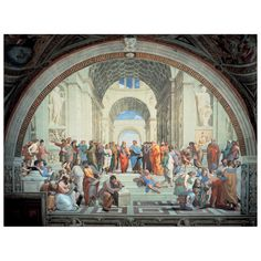 RAFFAELLO - THE SCHOOL OF ATHENS (140x106 cm / 100x76 cm) #artprints #interior #design #art #print #iloveart #followart  Scopri Descrizione e Prezzo http://www.artopweb.com/EC17368