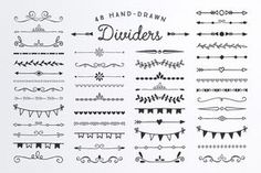Hand Drawn Dividers Borders by AzmariDigitals on Creative Market