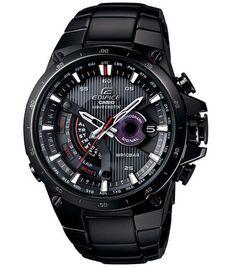 Casio EQWA1000DC-1A Men's Edifice Solar Powered Black Plated Atomic Watch