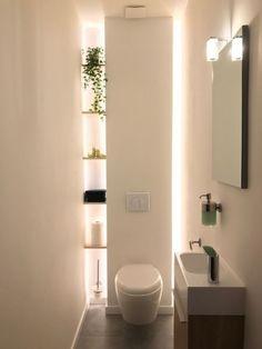 Washroom Design, Bathroom Design Luxury, Bathroom Layout, Modern Bathroom Design, Bathroom Ideas, Budget Bathroom, Small Downstairs Toilet, Small Toilet Room, Beautiful Small Bathrooms