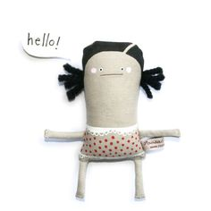 Handmade Toy Doll Hand Painted Doll Soft Toy Doll by poosac