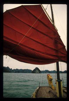 Dragon boat, Halong Bay, Vietnam, 1995