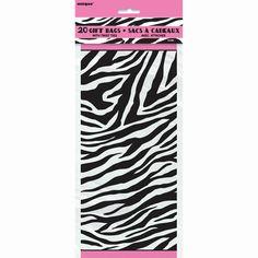 Zebra Passion Cellophane Bags, 20ct