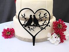 Glittery Silver Holding Hands Sweet Kiss Acrylic Wedding Cake Topper by Forbes Favors