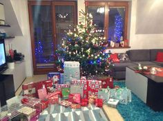 Christmas tree with presents.