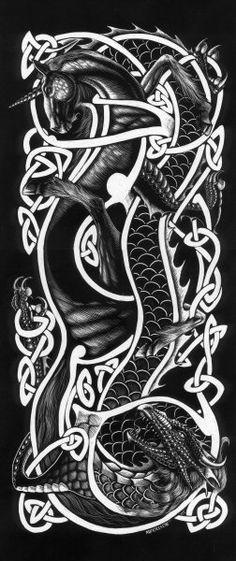 Unicorn Dragon Knot by Stanley Morrison