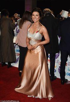 Pride of Britain Awards: Susanna Reid dazzles in peach gown Satin Gown, Satin Dresses, Susannah Reid, Danielle Lloyd, Peach Gown, Pride Of Britain, Silk Evening Gown, Caroline Flack, Tv Girls