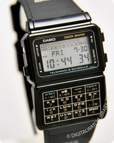 This was my first data bank in 1989. It was my father's. He gave it to me when he upgraded to a newer model. He's worn his databank ever since 1989.